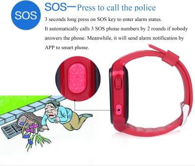 FindU FY02S Smartwatch (Red Strap)