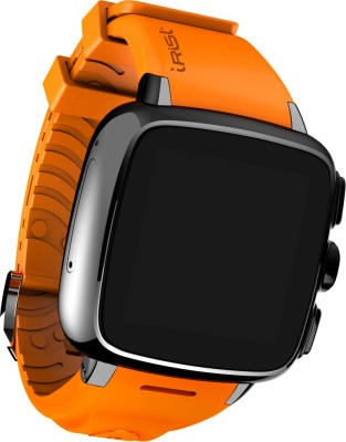 Intex iRist Black & Orange Smartwatch (Orange Strap)