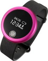 Fbandz S6 IP-65 Waterproof Bluetooth Heart Rate Monitor Fitness Band Pink Smartwatch (Pink Strap Free Size)