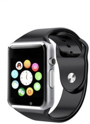 Being Trendy AP01 with SIM card slot, 32Gb Memory card slot and Fitness Tracker Smartwatch (Black Strap)
