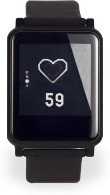 urbannsmart Heart rate - i7 Black Smartwatch (Black Strap)