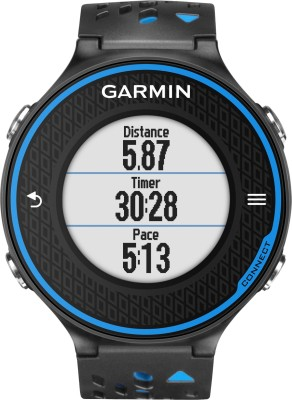 Garmin Forerunner 620 GPS with HRM Smartwatch (Blue, Black Strap)