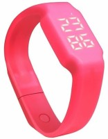 ZVR FLIPFIT Fitness BanD 3D PeDometer Sleep Temperature Calorie Monitor Time Display Silicon Without SpeeDometer Smartwatch (Pink Strap Free Size)