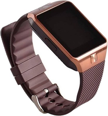ROOQ DZ09 Smartwatch (Brown Strap)