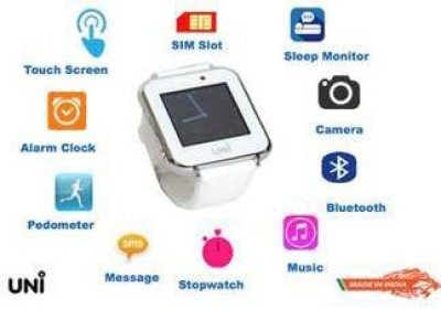 UNI N-7100 Smart Watch Cum Health Band With 2 additional Wrist Bands Smartwatch (Yellow, White, Blue Strap)