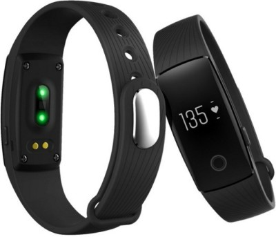 OPTA Bluetooth fitness tracker and heart rate sensor for Android/IOS Mobile Smartwatch (Black Strap)
