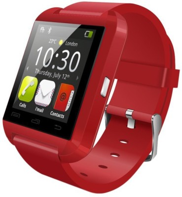 Salon U8 smart watch upgraded Smartwatch (Red Strap)
