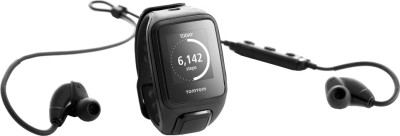 TomTom Spark Cardio + Music + Headphones Black Smartwatch ((Black, Large))