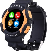 Bingo Sports Designed Waterproof C3 ORANGE Smartwatch Compatible With Android And IOS System Smartwatch (Black Strap)