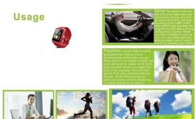 Atech U8 Smartwatch (Red Strap)
