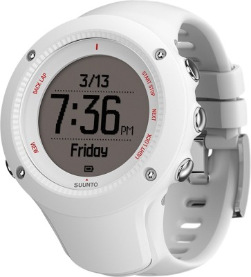 Suunto SS021258000 Ambit3 Run Digital Smartwatch (White Strap)