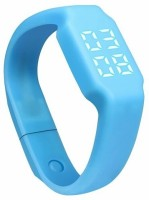 ZVR FLIPFIT Fitness BanD 3D PeDometer Sleep Temperature Calorie Monitor Time Display Silicon Without SpeeDometer Smartwatch (Blue Strap Free Size)