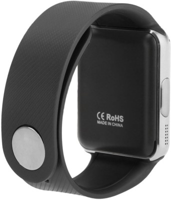 AJA Retail GT08 Bluetooth For Android, iOS, & Smart Phones Silver Smartwatch (Black Strap Free Size)