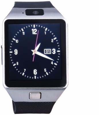 VibeX ™ DZ-09 In-Built 3G Mobile and Camera Ext. Memory card Slot Silver Smartwatch (Silver Strap Free Size)