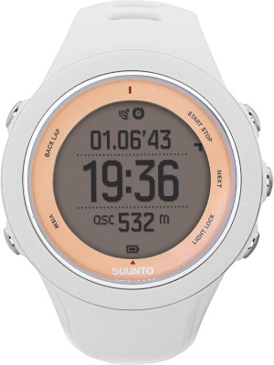 Suunto SS020672000 Ambit3 Sport HR Digital Smartwatch (White Strap)