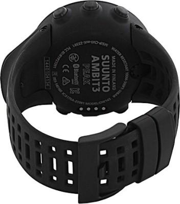 Suunto SS020674000 Ambit3 HR Digital Smartwatch (Black Strap)