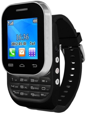 Kenxinda W1 With Bluetooth Device Smartwatch (Black Strap)