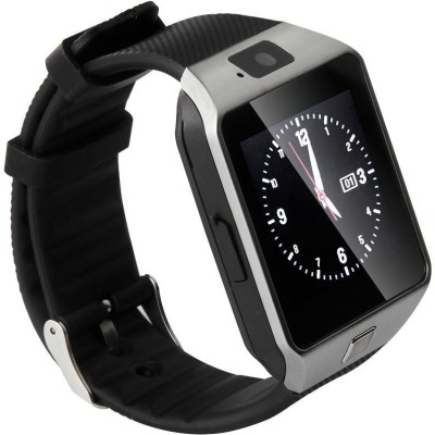 NoWhereElse ™ Bluetooth Smart Camera Sim Watch for Andriod iOS Silver Smartwatch (Silver Strap Free Size)