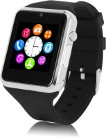 Pinglo A1 Smart Watch With SIM Card Slot And Camera Silver Smartwatch (Black Strap L)