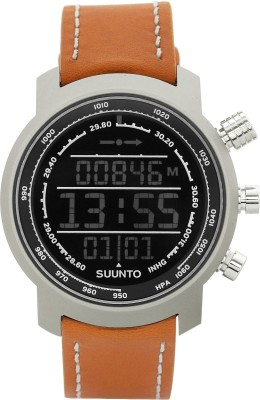 Suunto SS018733000 Elementum Terra Digital Brown Leather Smartwatch (Brown Strap)