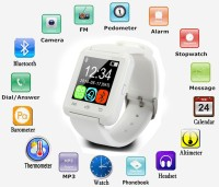 Everything Imported Smart Android Bracelet Watch Wireless Bluetooth Compatible With All Android Devices White Smartwatch (White Strap)