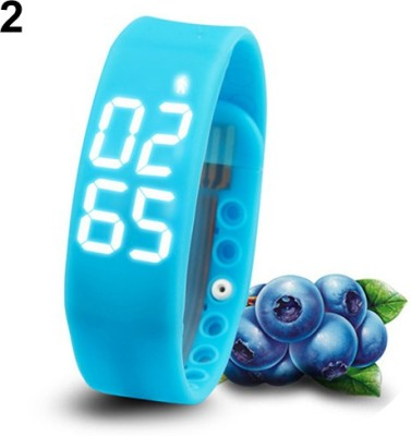 Bs Spy Fitness BanD 3D PeDometer Sleep Temperature Calorie Monitor Time Display Silicon Without SpeeDometer Blue Smartwatch (Blue Strap Free Size)