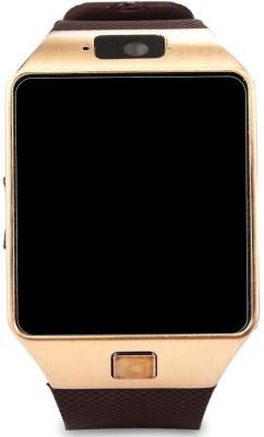 VibeX ® DZ-09 Mobile GSM-SIM Card Sport Camera HD Gold Smartwatch (Gold Strap Free Size)