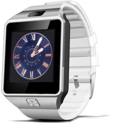 Speed DZ 09 Bluetooth, Sim, Memory Card Slot, Camera Fitness Tracker Smartwatch (White Strap)