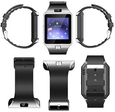 Mobizmo Dzar Steely Silver Smartwatch (Black Strap M)