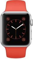 Apple Apple Watch 38mm Silver Aluminum Case With Orange Sport Band Smartwatch (Orange)