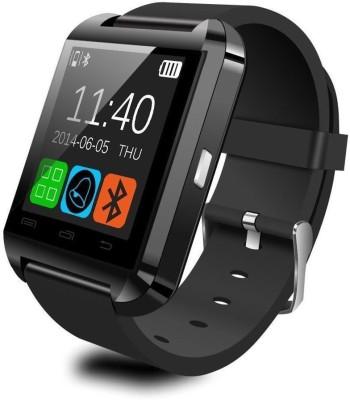 Callmate Gizmobitz Bluetooth A8 Smartwatch (Black Strap)