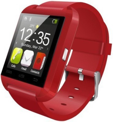 Gadget Bucket U8 Smartwatch (Red Strap)