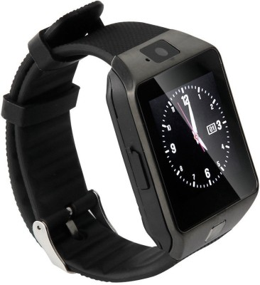 NoWhereElse ™ Bluetooth Smart Camera Sim Watch for Andriod iOS Black Smartwatch (Black Strap Free Size)