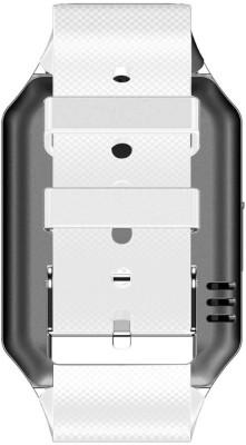 Aja Retail DZ09 Bluetooth, Sim, Memory Card Slot, Camera Fitness Tracker Smartwatch (White Strap)