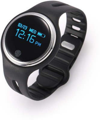 FLIPFIT Fitness Band 2 MODES (CYCLING AND WALKING ) CALL NOTIFICATION 3D Pedometer Calorie tracker touch button (Can be weared as necklace ) for swimming Black Smartwatch (Black Strap Free Size)
