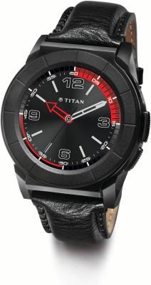 Titan Juxt Pro Black Smartwatch (Black Strap)