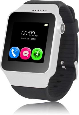 Zgpax Bluetooth Watch PhoneS39 (works as phone also) Silver Smartwatch (Silver Strap)