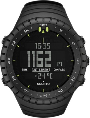 Suunto SS014279010 Core Digital All Black Smartwatch (Black Strap)