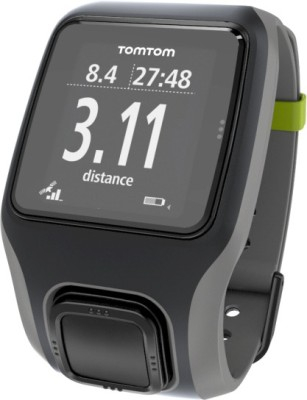 TomTom 1RS0.001.00 Multi-Sport Digital Watch Smartwatch (Black, Grey Strap)