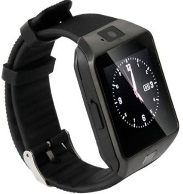 Hari Krishna Enterprise Sim Black Smartwatch (Black Strap)