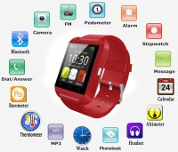 Everything Imported Smart Android Bracelet Watch Wireless Bluetooth Compatible With All Android Devices Smartwatch (Red)