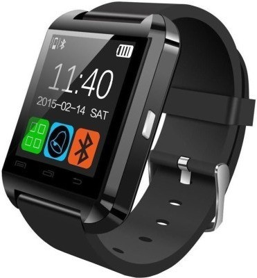 ShopAIS U8 Black Smartwatch (Black Strap)