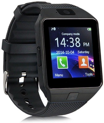 VibeX ® DZ-09 Mobile GSM-SIM Card & HD Camera Black Smartwatch (Black Strap Free Size)