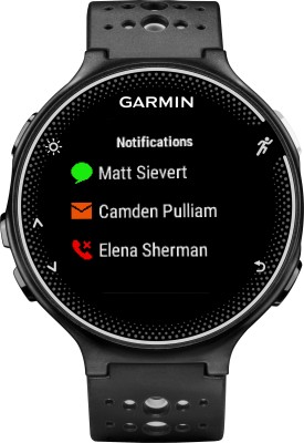 Garmin Forerunner 230 Black Smartwatch (Black Strap)