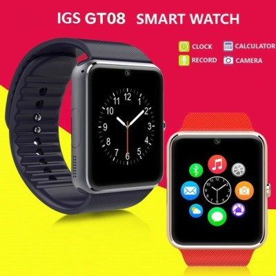 IGS IGS - GT08 (Black) Black Smartwatch (Black Strap)