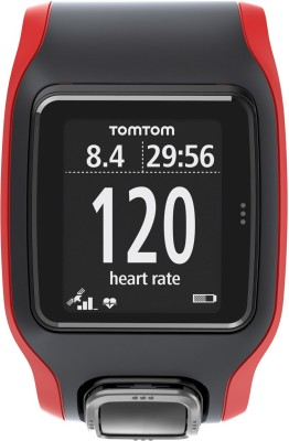 TomTom 1RH0.001.01 Multi-Sport Cardio GPS Watch Smartwatch (Black, Red Strap)