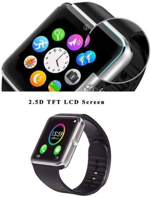 Attire Compatible IOS-Android Quality Smartwatch (Black Strap L)