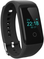 Flipfit Fitness Band HEART RATE MONITOR BLUETOOTH CALL NOTIFICATION 3D Pedometer Calorie Tracker Touch Button Black Smartwatch (Black Strap Free Size)