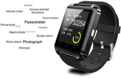 MM Unisex Bluetooth Watch for Android Mobile Phones with Pedometer and Sleep Record Smartwatch (Black Strap)