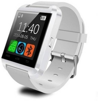 SD U8 White Smartwatch (White Strap)